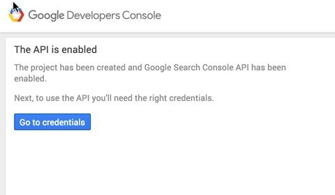 Google Development Console