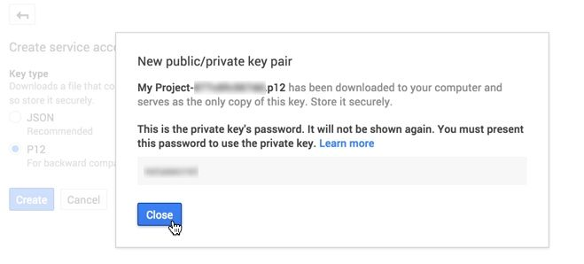 Confirmation Private Key